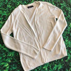 🜃 Jones New York cardigan | large | white | knit